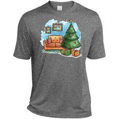 Merry Christmas and Happy New Year36-01 TST360 Sport-Tek Tall Heather Dri-Fit Moisture-Wicking T-Shirt