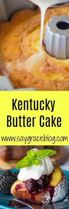 This rich Kentucky Butter Cake is is drenched with a sweetened butter sauce and quite frankly very hard to resist.
