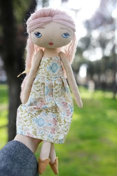 Hand made doll, made with love