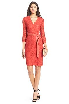 I know it's shallow, but all I want is a Diane VonFurstenburg wrap dress. Preferably in this coral lace.