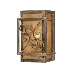 Hampton Bay Wall-Mount 1-Light Outdoor Glynn Wood Bronze Lantern-HD494768 at The Home Depot