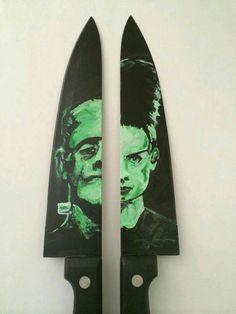 Frankenstein's monster n its bride knives!? Herrowwww... Yesss pleaseee!