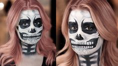 You Go, Ghoul! This Skull Tutorial Requires Just 3 Products: Skulls are a Halloween staple that make for a classic costume.