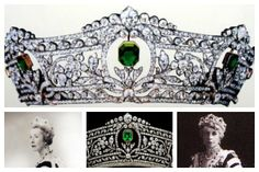 tiara detail; Mary Ethel Harcourt, Viscountess Harcourt; tiara detail; Doris Baring, Lady Ashburton