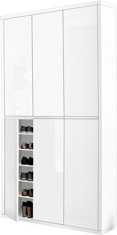 HMW Schuhschrank »Spazio« für 359,99€. Pflegeleichte Oberfläche, Bietet viel Stauraum, Ideal für kleine / schmale Räume, FSC®-zertifiziert bei OTTO