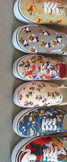 I am obsessed with Disney & they made them into shoes!  I already have the Ariel shoes (pastel colors) & 101 Dalmation shoes (red)!
