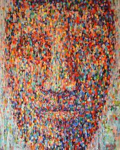 "Saatchi Art Artist Dejan Bozinovski; Painting, ""Anonymous 8 Sold"" #art"