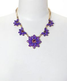 Another great find on #zulily! Purple & Gold Layered Petal Bib Necklace by Ethel & Myrtle #zulilyfinds