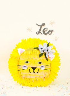 Zodiac pinata leo lion