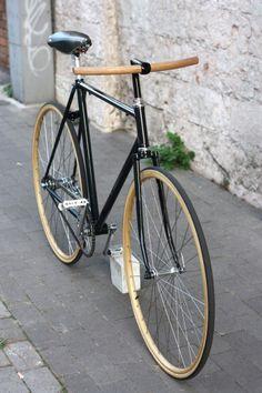 wooden handlebar
