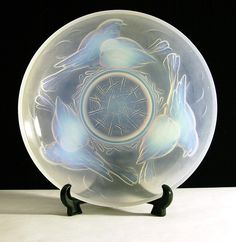 Opalescent Glass Bowl Signed 'Ezan'
