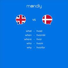 Danish Language Learning, Speak Danish, Learn Languages Online, Learning Apps, Spanish English, Learn A New Language, Single Words, New Words, Study Tips