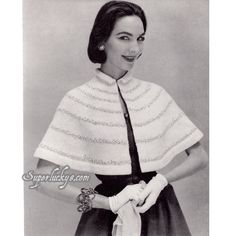 Vintage Cape knitting pattern in PDF instant download version by Superlucky8 on Etsy