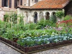 garden at a French abby