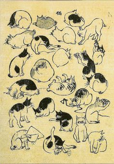 Cats by Utagawa Hiroshige, 1890 - Utagawa Hiroshige (aka Ando Hiroshige, aka Ichiyusai Hiroshige, Japanese, 1797–1858)