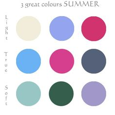 3 great SUMMER colours