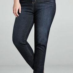 Virtual Stretch® Legging Jean (Dark Wash)-Plus Size Jegging-Avenue