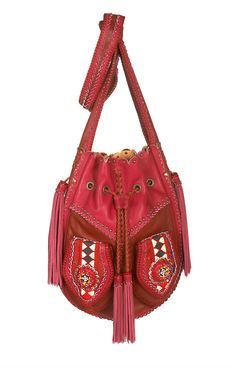 I love the red and pink together in this Sac Bag - World Family Ibiza