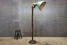 XXL Gullwing Porcelain Floor Lamp : 20th Century Vintage Industrial : Modern Fifty