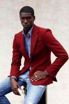 Red.  Menswear, men's fashion and style