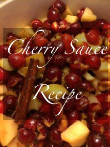 We pick tart cherries in door county every year and there's always plenty to go around for several new canning recipes. In this recipe I was trying to make something that would go good as a quick and easy sauce to add to meats, or desserts when time is running short. I wanted it to be comforting yet sugar free. This one turned out great and was delicious on baked chicken AND in homemade Almond Milk Ice Cream.