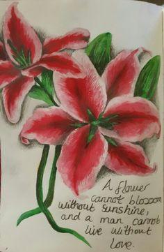 Flower art journal page