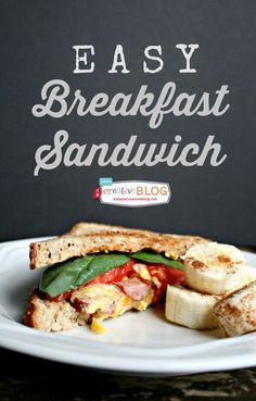Easy Breakfast Sandwich | TodaysCreativeBlog.net #butterball #spon