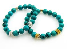 InTuition armband Turquoise goud | InTu jewelry design