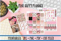 Pumpkin Latte Printable Planner Kit | Autumn Fall Coffee DIY Planner Stickers | Cut Line Files | Mini Happy Planner Stickers Printables by DIYPlannerGirl on Etsy https://www.etsy.com/listing/542978136/pumpkin-latte-printable-planner-kit