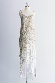 1980s Silk Caviar Pearl Bugle Beaded Dress – GOSSAMER VINTAGE