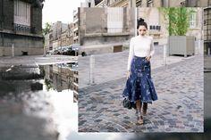 WHEN IN PARIS: DENIM SKIRT - Olivia Lazuardy