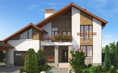 Проекты загородных домов My Ideal Home, Mansions, House Styles, Home Decor, Home Plans, Decoration Home, Manor Houses, Room Decor, Villas