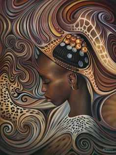 Image result for African Spirits I Print by Ricardo Chavez-Mendez