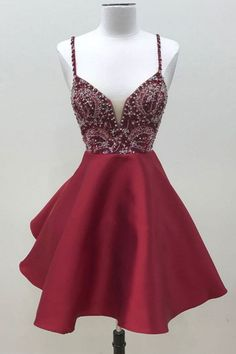 Stylish A-Line Spaghetti Straps Short Homecoming Dress With Beading sold by Dressywomen. Shop more products from Dressywomen on Storenvy, the home of independent small businesses all over the world.