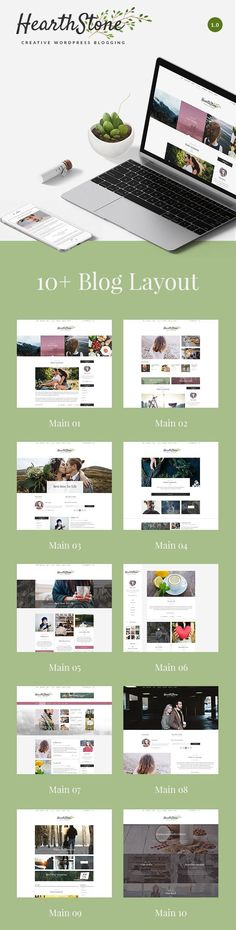 HearthStone - Responsive WordPress Blog Theme. HearthStone is ideal for web blogs from which the inspiration came from, with content related to photography, travel, graphic design, fashion, art, architecture, interior design and other creative fields. #blog #blogger #blogging