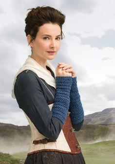 Outlander the Series Kit: Journey to Standing Stones Arm Warmers (Crochet). Each kit includes all the yarn you need for the project, as well as a copy of the pattern.
