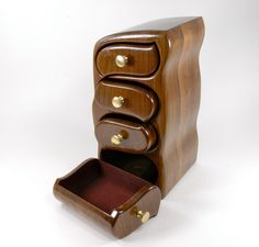 Wood Jewelry Box  Walnut Bandsaw Box  by GoodVillageWoodcraft, $225.00