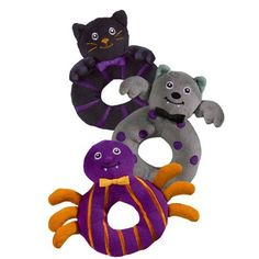 Halloween Bootiful Baby Ring Rattle (1 Piece) Grasslands Road