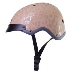 I liked this design on #Fab. Madison Helmet Beige - leopard bike helmet
