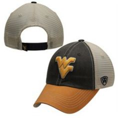 e3687b64614 West Virginia Mountaineers Top Of the World Navy Yellow Offroad Snapback Hat  Cap Top Of The