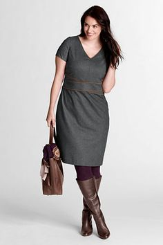 Women's Plus Size Woven Piped Dress from Lands' End // AWESOME!!