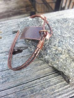 Hammered Copper Bangle with Tag $20