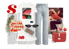 """more coffee please"" by sofiasaxon ❤ liked on Polyvore featuring Valentino, Acne Studios, Prada, ban.do, Comme des Garçons, Gucci and vintage"