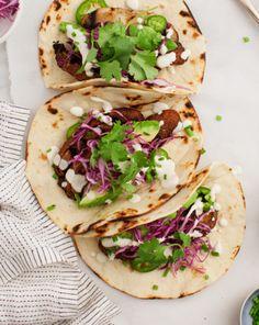 Portobello Tacos With Vegan Jalapeno Sauce Love & Lemons...