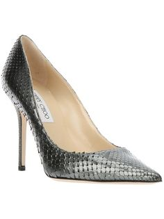 """JIMMY CHOO...love the name of the color """"Gunmetal"""""""