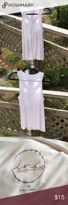 International Concepts Sleeveless Blouse EUC - this blouse has a nice stretch to it INC International Concepts Tops Tank Tops