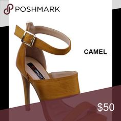 Camel High Heel Sandal Camel 4 inch heel. New in box Shoes Sandals