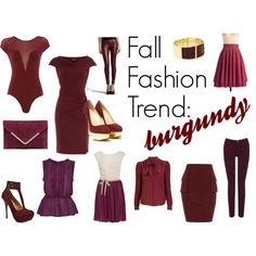 """""""Fall Fashion Trend: Burgundy"""" by ltretail on Polyvore"""