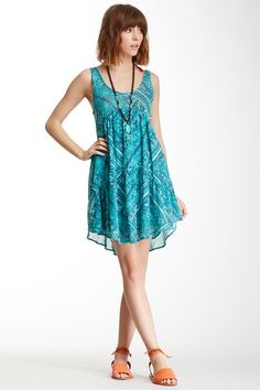 Lay It Back Tiered Printed Dress on HauteLook