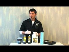 FAUX PAINTING METALLIC TEXTURE STRIE PLASTER - YouTube